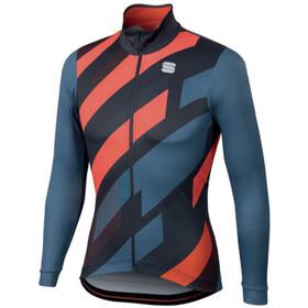 Sportful Volt Thermal LS Jersey Men blue stellar/anthracite/red fluo